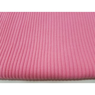 Strickbündchen grob, Schlauchware , uni hell pink