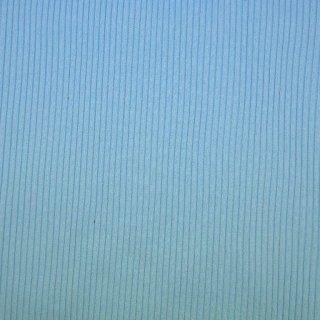 Strickbündchen grob, Schlauchware , uni hell blau