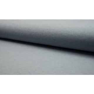 Strick Jersey Angora Look - hell grau