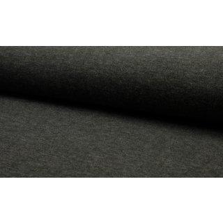 Strick Jersey Angora Look - dunkel grau