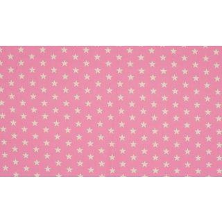 ROSE STAR - weiße Sterne - rosa - Jersey