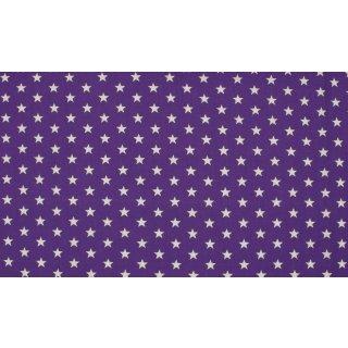 LILAC STAR - weiße Sterne - lila - Jersey