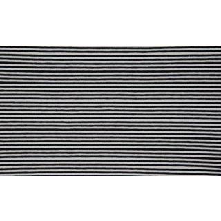 Jersey Streifen schwarz-weiß 0,3 cm