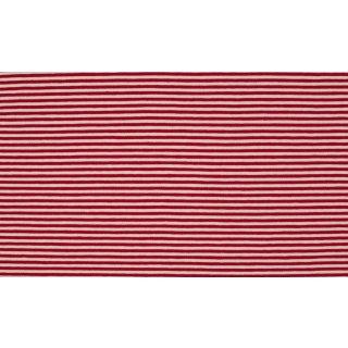 Jersey Streifen rot-weiß 0,3 cm