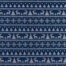 Jersey Bedruckt Winterwunderland Blau