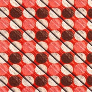 Digital Druck Holz Kreise - braun - Jersey