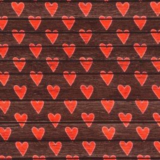 Digital Druck Holz Herz - braun - Jersey