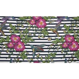 Blumen und Kolibri - Jersey