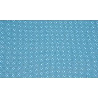 blue dot - weiße Punkte - hellblau - Jersey