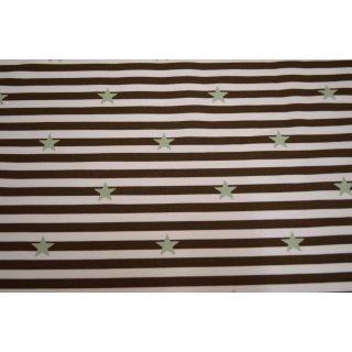 Mini Stripes Sterne  schokobraun/gruen - Sommersweat