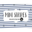 Mini Stripes Sterne  rauchblau/grau - Sommersweat