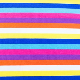 Jersey Streifen Multicolor Gelb-Kobalt