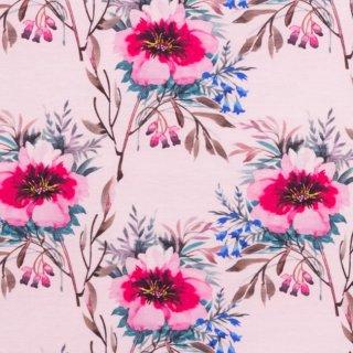 Jersey Aquarell Blume Alt Rosa