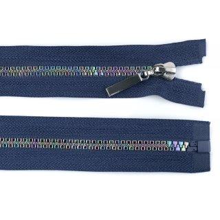 eclipse/blau 1 Stück Jacken Reißverschluss  40 cm - teilbar- Rainbow / Regenbogen
