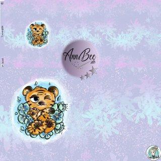 Jersey Panel Tigerbär flieder