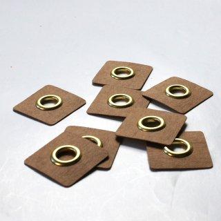 Aufnäh Ösen - 8mm - gold - 2 Stück