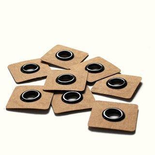 Aufnäh Ösen - 8mm - schwarz - 2 Stück