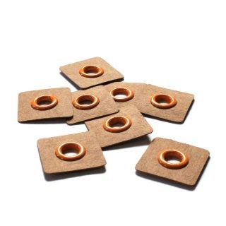 Aufnäh Ösen - 8mm - orange - 2 Stück