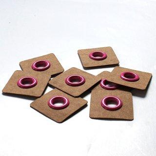 Aufnäh Ösen - 8mm - pink - 2 Stück