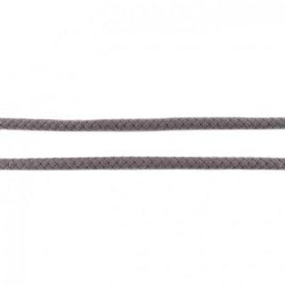 Baumwollkordel geflochten rund 8 mm dunkelgrau