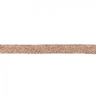 Flache Kordel Multicolor 20 mm Taupe-Sand