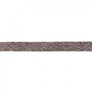 Flache Kordel Multicolor 20 mm Schwarz-Grau