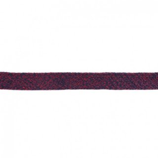 Flache Kordel Multicolor 20 mm Dunkel Blau-Rot