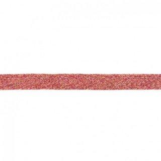 Flache Kordel Multicolor 20 mm Pink-Choco