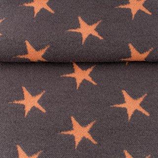 Bündchen Sterne, Dunkel Grau-Lachs