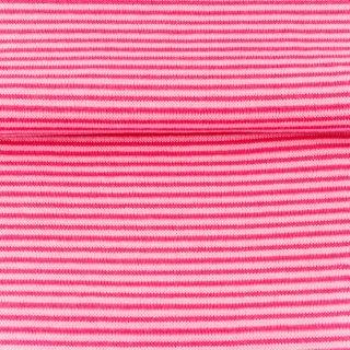 Bündchen Streifen, Schlauchware , pink