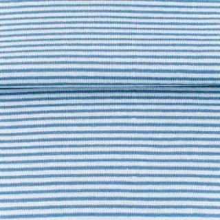 Bündchen Streifen, Schlauchware , hell blau